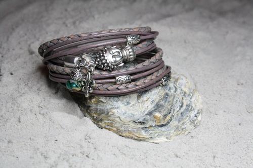 stijlvolle leren dames armband | style dk66